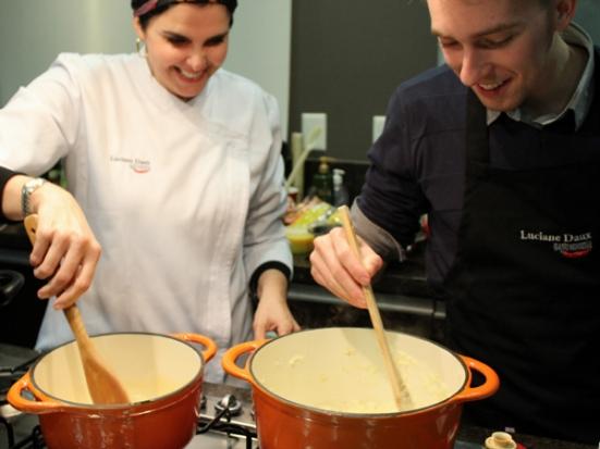 Luciane Daux e Jordan Franzen (Chef da Risotteria Suprema).